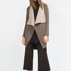 Zara Knit Oversized Open Front Draped Cardigan